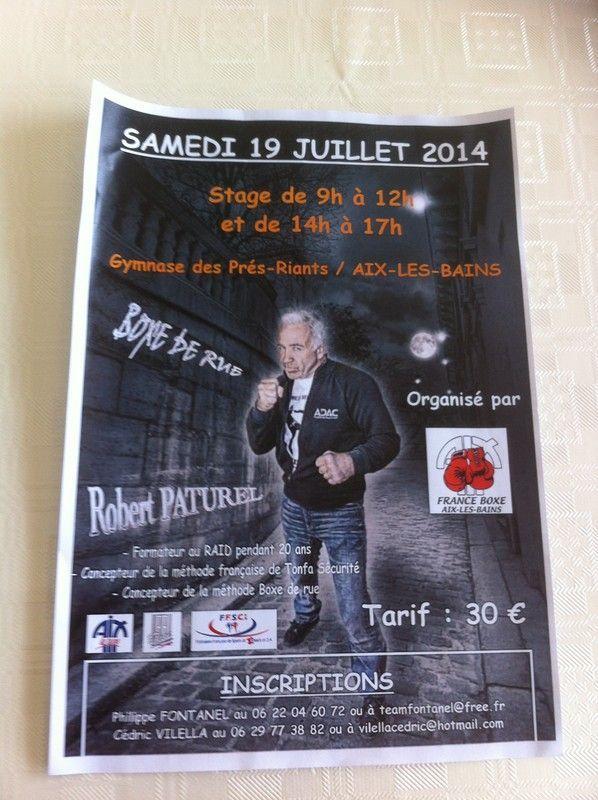 Stage à Aix Les Bains le 19 juillet